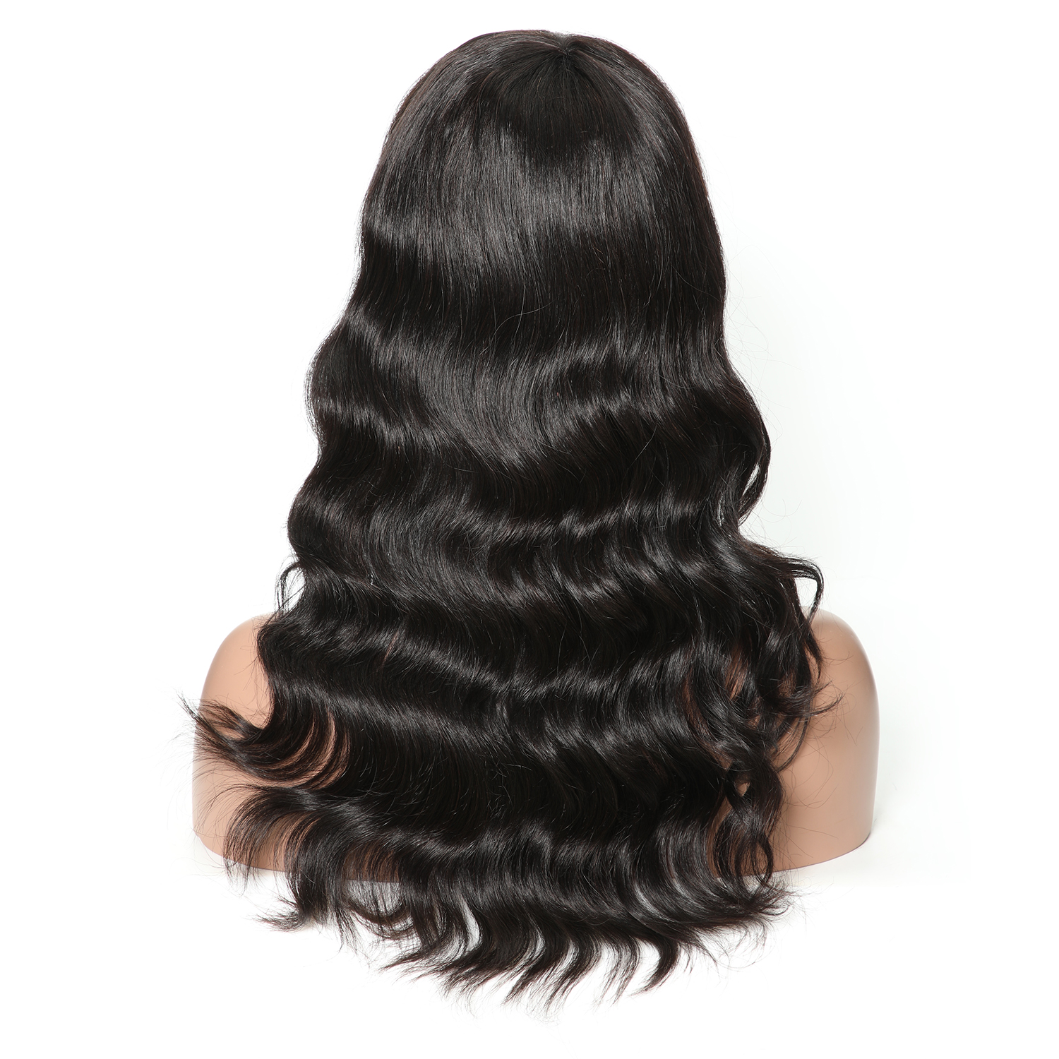 Brazilian Loose Wave Human Hair Wigs With Bangs Brazilian Hair Non-Remy Long Wig 130% 1B And Burgundy Machine Made Cheap Wigs