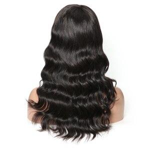 Morichy, pelucas de cabello humano brasileño de onda suelta con flequillo, cabello brasileño, peluca larga no Remy, pelucas de celebridad 130% de máquina completa