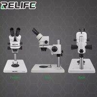 Relife Rl m2 7 45 Times Binocular Microscope Inspection Pcb Repair Microscope 144 Led Light Source Phone Repair Tool
