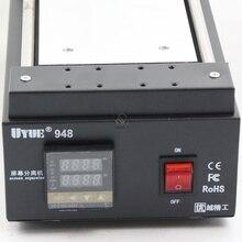 UYUE 948 7 дюймов черный металл сенсорный Стекло Панель Экран сепаратор для мобильного телефона из закаленного стекла ЖК-дисплей ручной инструмент для ремонта Разделение машина Тип зажима