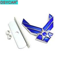 DSYCAR-pegatina de rejilla delantera de la Fuerza Aérea americana, emblema de Metal 3D, accesorios de inserción, 1 Uds.