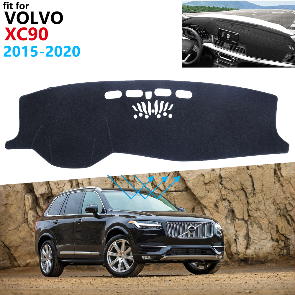 Dashboard Cover Protective Pad for <font><b>VOLVO</b></font> <font><b>XC90</b></font> 2015~2020 Car <font><b>Accessories</b></font> Sunshad Dashmat Anti-UV Carpet <font><b>2016</b></font> 2017 2018 2019 image
