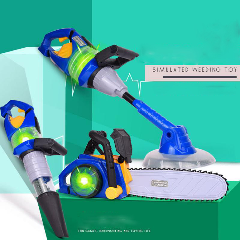 Simulation Childre Puzzle Family Tools Toys Electric Vacuum Cleaner Electric Saw Electric Lawn Mower Toys For Kids