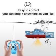 Mini RC Submarine Boat Motors Remote-Control Waterproof 6CH for Kids Children Gift 23mins