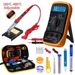 Soldering iron with Digital multimeter kit Adjustable Temperature Auto Ranging AC/DC tester multimetro Welding Tool Kits