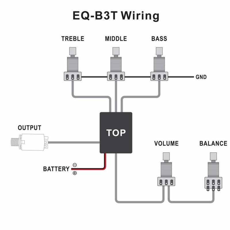 Belcat Circuit de préampli actif EQ EQ-B3T actif de qualité supérieure pour remplacement de guitare basse