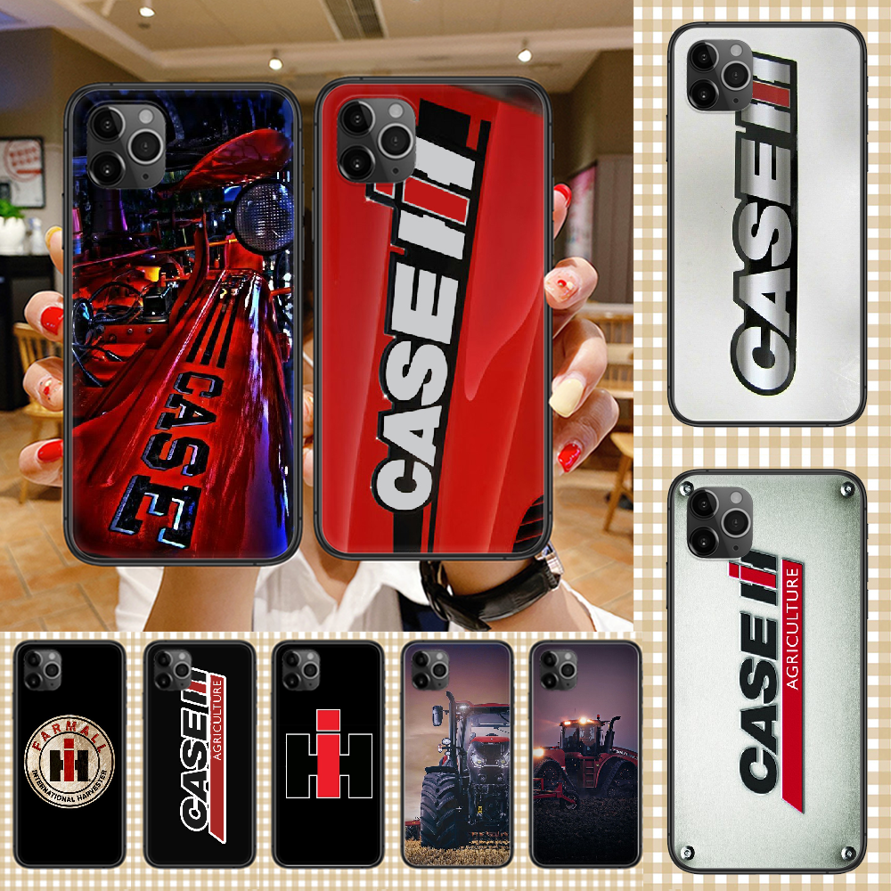 CASE IH Tractor Logo Phone Case Cover Hull For Iphone 5 5S Se 2 6 6S 7 8 12 Mini Plus X XS XR 11 PRO MAX Black Luxury Cover 3D