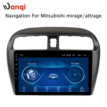 9 Inch Android Car radio monitor For Mitsubishi mirage attrage 2012 2013 2014-2018 car multimedia player Video gps Navigation image