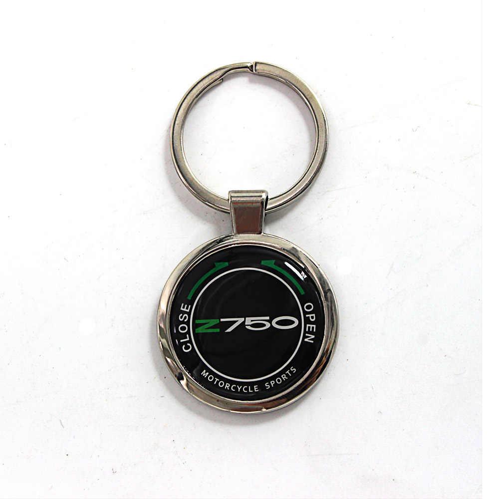 Motocicleta do Anel chave keychain com logotipo para Kawasaki Z750