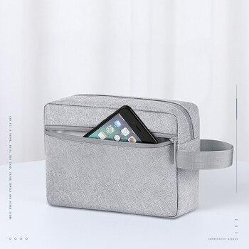 цена на Portable Digital Bag Waterproof Women Travel Key Ipad Phone Organizer Case Weekend Overnight Cosmetic Storage Pouch Accessories