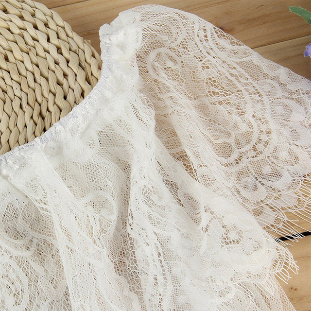White Lace Flower Embroidery Maternity Dresses 4