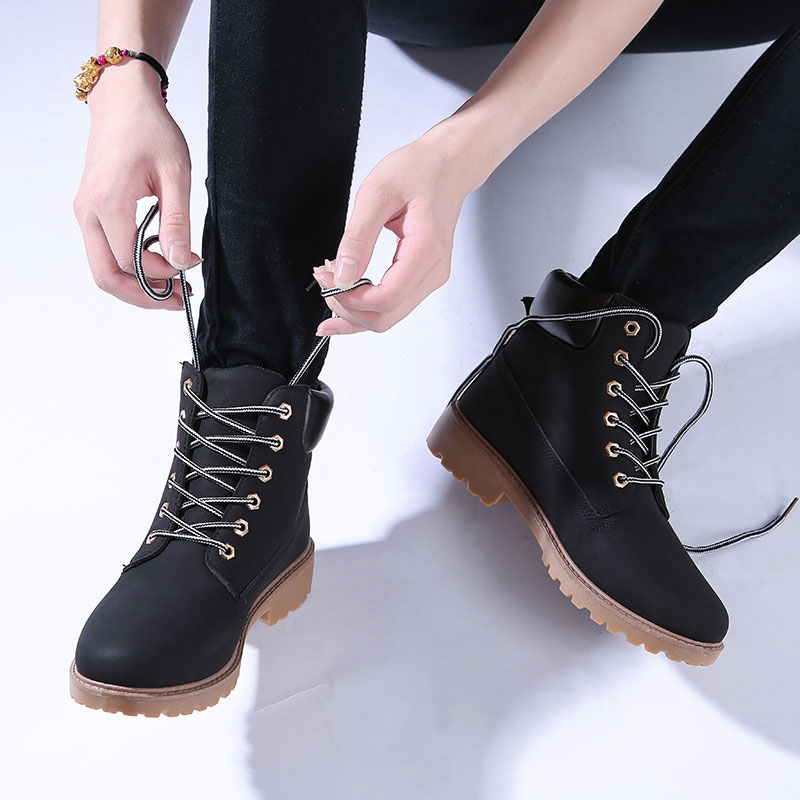 Image 5 - 2019 Women Winter Ankle Snow Boots Female Warm Fur Plush Insole Platform Boots Black Lace Up Shoes For Women Botas Mujer-in Ankle Boots from Shoes