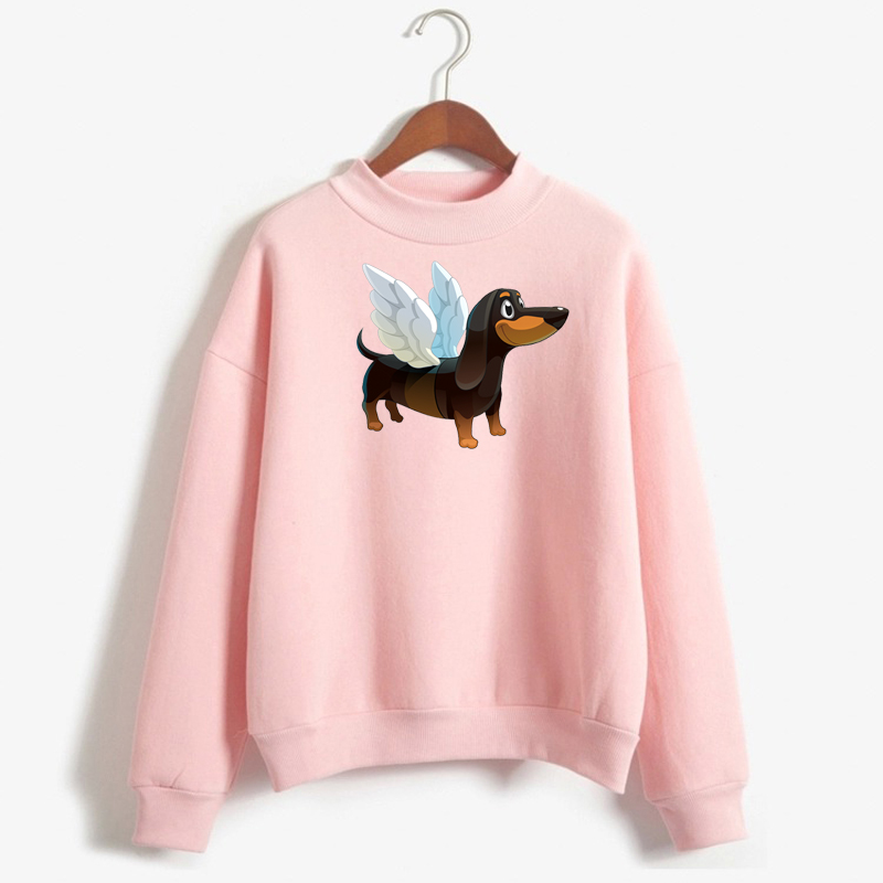 Dachshund Harajuku Print Pullover Women Clothes Funny Hipster Dog Graphic Sweatshirt Winter Female Long Sleeve Tops Streetwear
