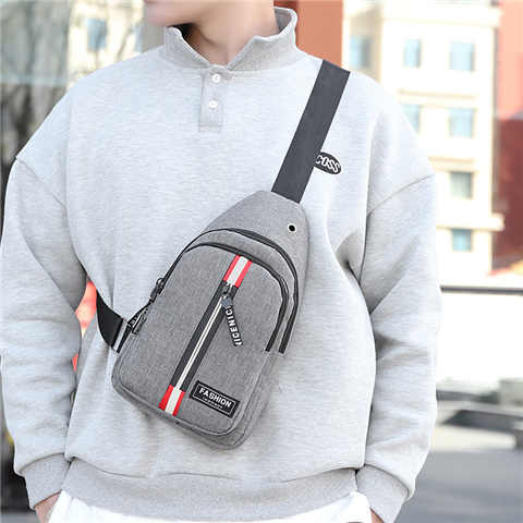 Multi bolsillo hombro hombres pecho bolsa Paquete de cintura adolescente mensajero cinturón cintura bolsa hombre mujeres USB carga de teléfono móvil