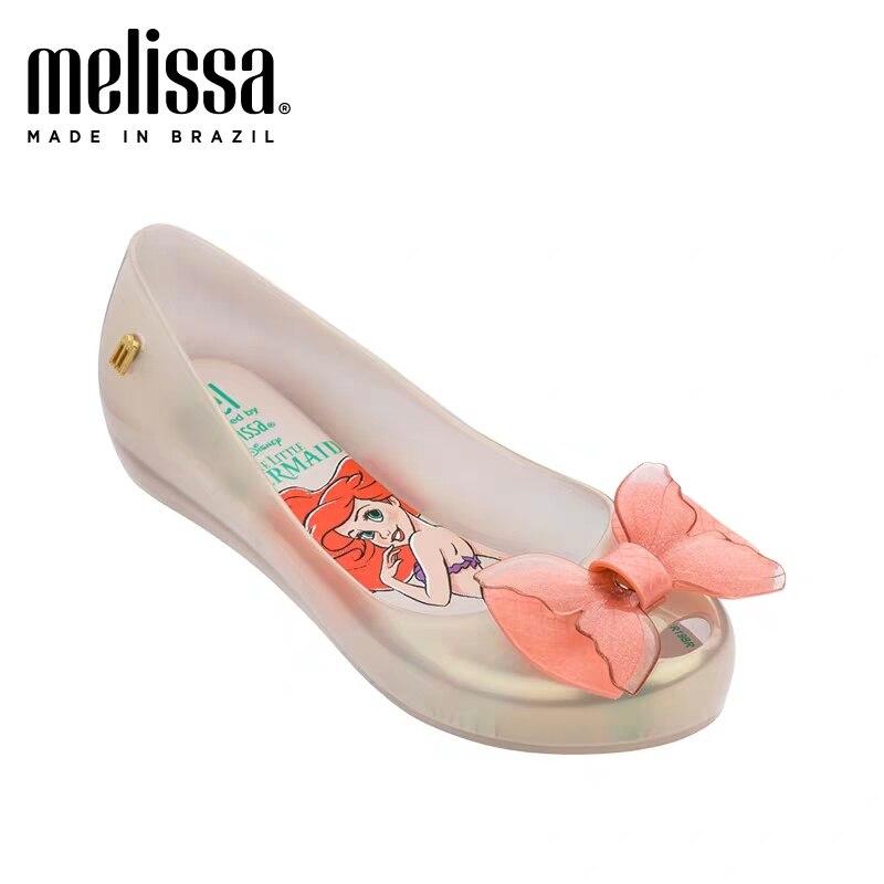 Big Girls 2020 New Mini Melissa Mermaid Jelly Shoes Kids Beach Sandals Children Princess Candy Non-slip Melissa Sandals