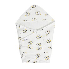 1Pc Baby Boy Girl Newborn Infant Cotton Cute Quilt Suitable For Four Seasons Thin Blanket With Hooded Towel Baby Wrap Blanket(China)