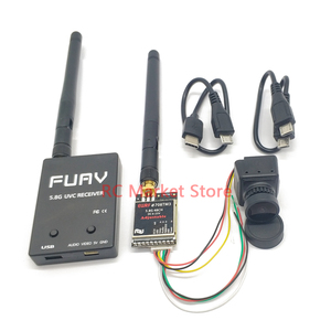5.8G FPV Receiver UVC Video Downlink OTG VR Android Phone+5.8G 25mW/200mW/600m Transmitter +CMOS 1200TVL Camera fpv for RC Drone(China)