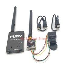 5.8g fpv receptor uvc vídeo downlink otg vr telefone android + 5.8g 25 mw/200 mw/600 m transmissor + cmos 1200tvl câmera fpv para rc zangão