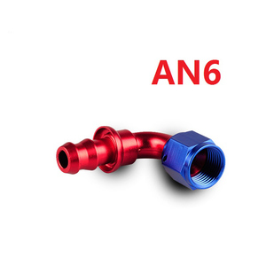 Image 1 - car accessories intercooler Aluminum FITTING Push On Hose Ends Pipe AN6 fitting