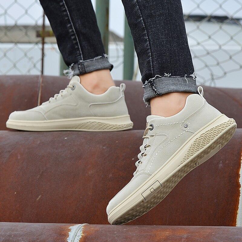Homens sapatos de moda couro genuíno oxfords