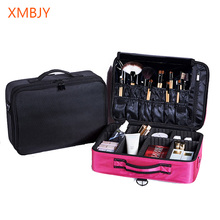 Hot sale Professional Makeup Organizer Bolso Mujer Cosmetic Case Necessar Travel Storage Bag Suitcases Dropshipping Nylon