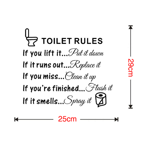 Toilet Rules Dialogue Stickers 10
