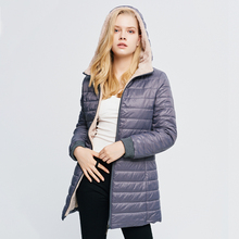 Long Jacket Winter Coat Women Slim Straight Hooded snow long Sleeve Female Autumn Casual Womens Down Cotton