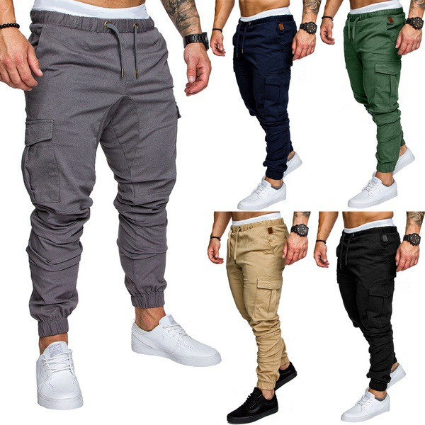 2018-Men's Casual With Drawstring Elastic Sports Baggy Pants Trousers Large Size MEN'S Wear Ankle Banded Pants AliExpress