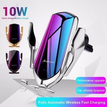 10W Wireless Car Charger Infrared Sensor GPS Air Vent Mount Car Phone Holder Automatic Clamping Cargador Inalambrico Carregador 1
