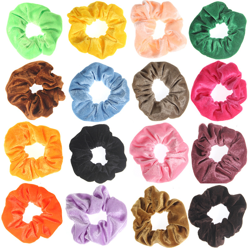 Neon Scrunchies Elastic Hair Ties Colorful Ponytail Holders Yellow Green Blue Bright Hair Accessories