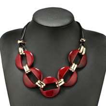 Модное массивное ожерелье с цепочкой чокер для женщин большая