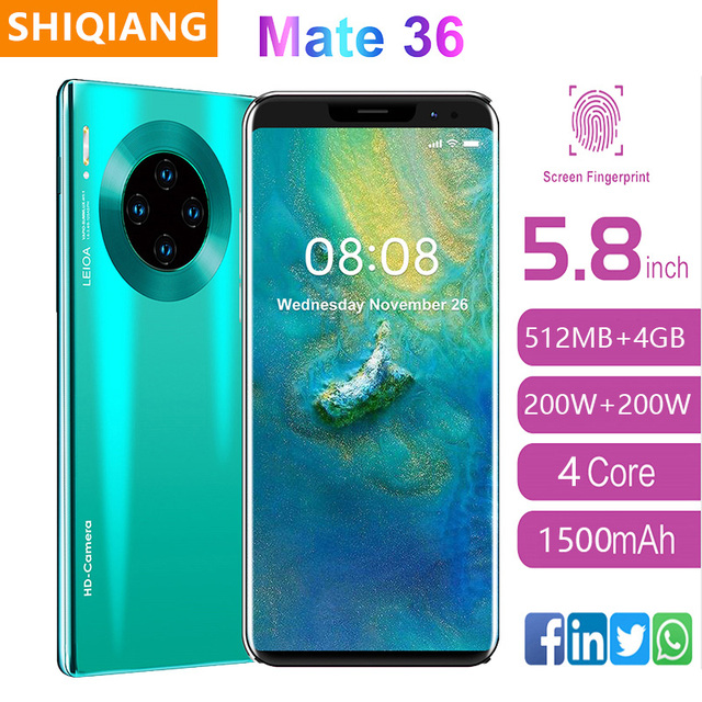 2020 Newly SOYES Global Version Smart phone Quad Core Android9.1  Cell phone 5.8inch Screen Dual Sim Cards 1500mAh Mobile Phone 1