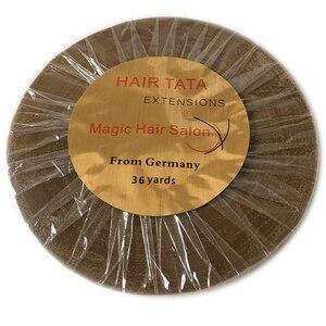 Image 1 - Двусторонняя клейкая лента для наращивания волос, 1 рулон, 36 ярдов, ширина 1 см
