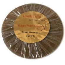 1 rolo 36 jardas largura 1cm dupla face adesivo extensões de cabelo fita de suporte de extensão de cabelo tata para fita de extensão de cabelo