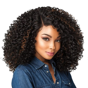 Image 3 - 14 אינץ קצר שיער קינקי קרלי סינטטי פאת תחרה מול פאה אפריקאי אמריקאי פאות עבור נשים שחורות זהב יופי