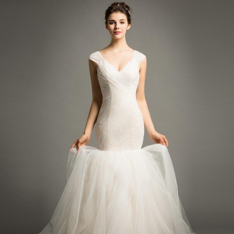 Spaghetti sangle blanc sirène robes De mariée Corset 2020 Vestido De Novia Sexy Spaghetti sangle sirène robes De mariée pour la mariée - 2