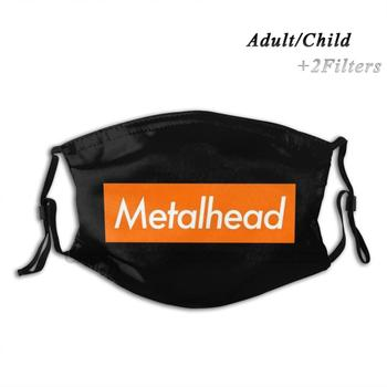 Metalhead Design Anti Dust Filter Washable Face Mask Kids Black Red Deutschland Zeig Dich Ausländer Ohne Dich Industrial image