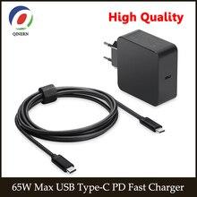 Зарядное устройство USB Type c PD для ноутбука, адаптер для Macbook Pro 12 13 ,lenovo,Huawei,Matebook ,HP, DELL XPS, 65 Вт 45 Вт 20 в 3,25 А
