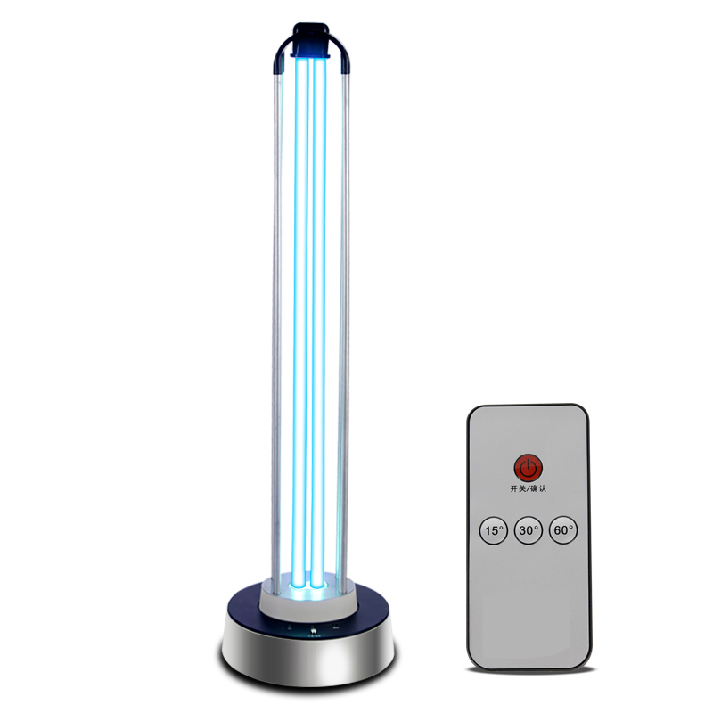 100W Intelligent Human Induction UV Disinfection Lamp Sterilization Lamp Home Kindergarten  Ozone Deodorizing Ultraviolet Lamps