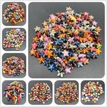 50 pçs/lote Espaçados de Acrílico Beads Mix Cores Contas Para Fazer Jóias DIY Encantos Pulseira Artesanal Do Vintage