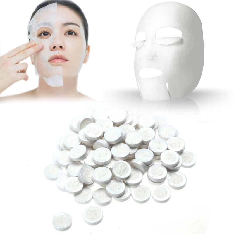 50pcs/pack Compressed Mask Skin Face Care DIY Facial Compressed Paper Masque Mask Paper Sheet Women Good Skin Beauty Tool