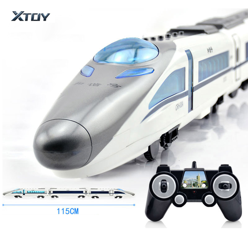 CRH-380A RC <font><b>Train</b></font> Toys Electric Express Remote Control <font><b>Train</b></font> China Railway High-speed <font><b>Trains</b></font> Model RC Toys for Children Gifts image