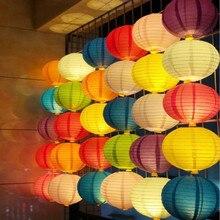 Круглые бумажные фонарики ручной работы (4,6,8,10,12,14,16 дюймов), подвесное украшение на свадьбу, день рождения, праздник, китайские бумажные фона...