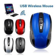 Mouse Notebook Laptop Battery-Powered 1600DPI Wireless with Usb-Receiver for PC Desktop