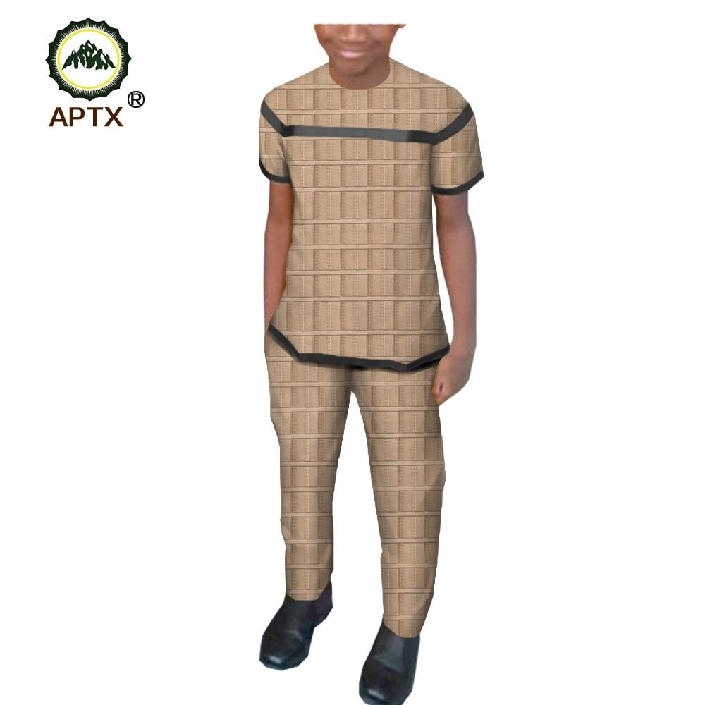 APTX Muslim Arabic Kaftan Men Pants Suit Patchwork Short Sleeves Top+Full Length Pants  Saudi Arabia Middle East Men T1916018
