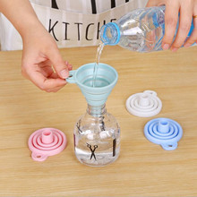 Liquid Dispensing Mini Collapsible Funnel Protable Silicone Foldable Water Bottle Hopper Kitchen Tool Accessories Gadgets