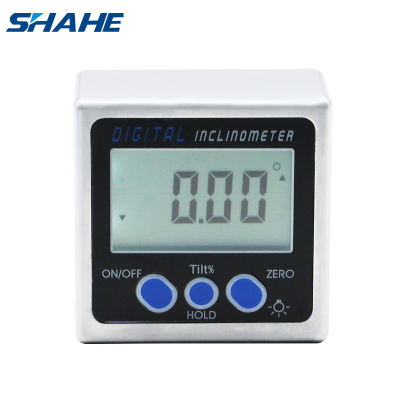 3 Magnets Light LCD Digital Bevel Box Protractor Gauge Angle Inclinometer Level