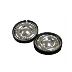 Image 2 - 2 pièces 40mm casque haut parleur 0.1W 32ohm casque cornes bricolage HIFI sans fil Bluetooth casque cornes titane haut parleurs