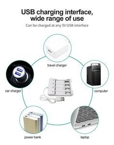 Image 4 - VOXLINK USB סוללה מטען 4 חריצים עם USB כבל עבור AA/AAA נטענת סוללות מטען עבור שלט רחוק מיקרופון מצלמה