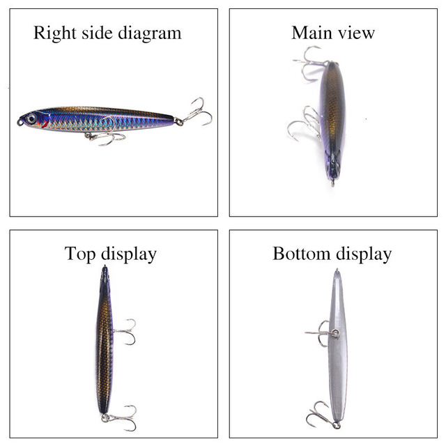 Рыболовная приманка-карандаш, вес 10-24 г 4